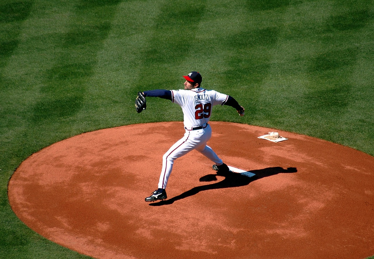 Baseball pitcher in wind-up