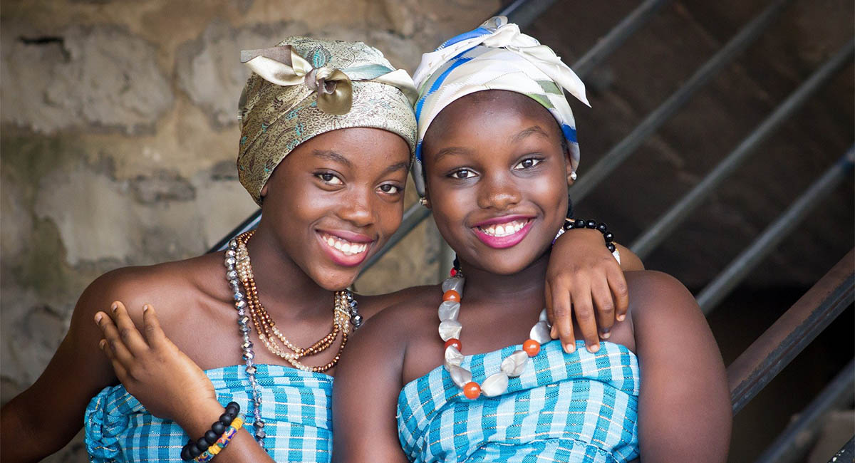 Two young African women friends