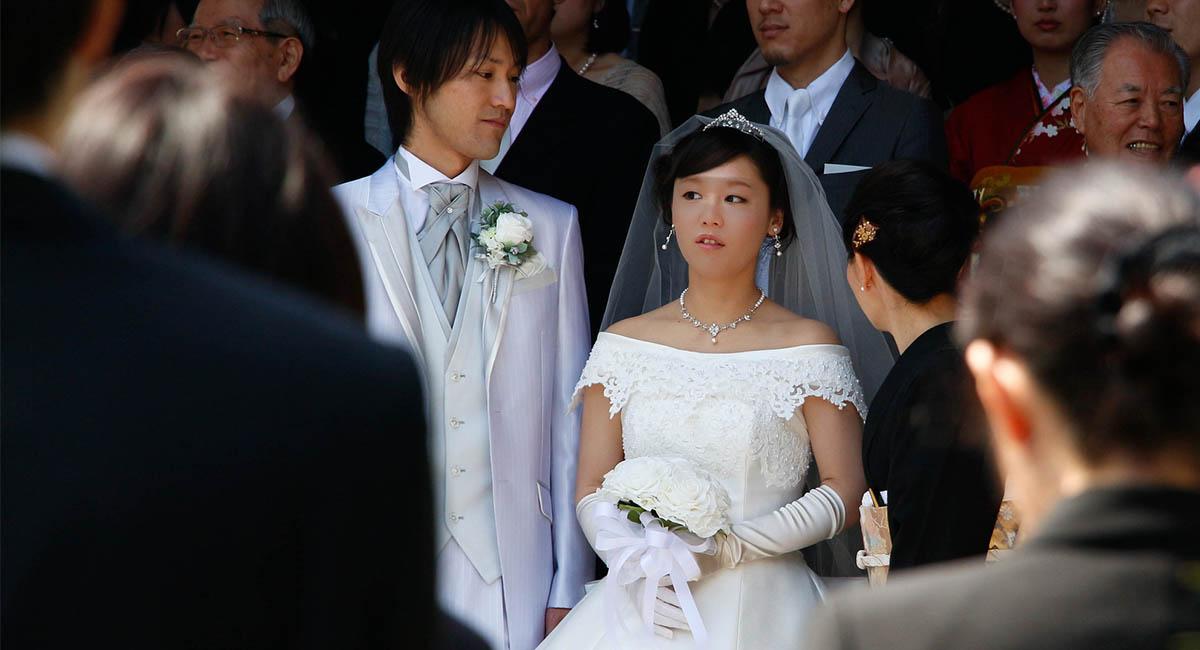 bride, groom, Japan, wedding, young people
