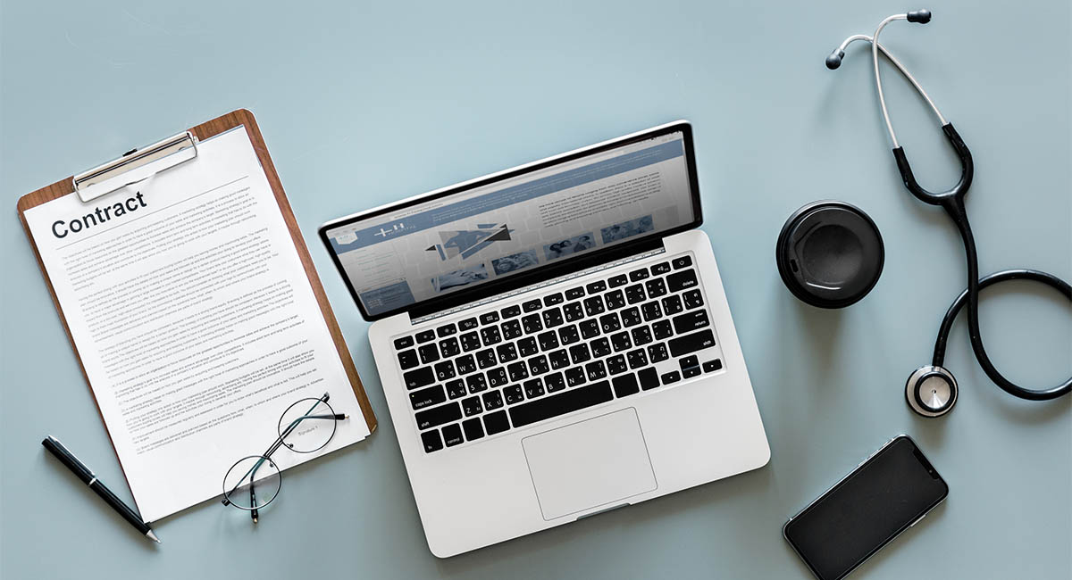 Contract, laptop, medical supplies