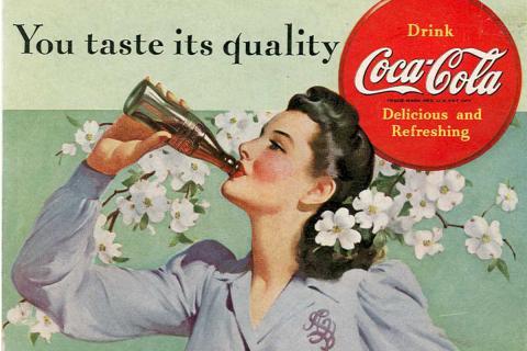 A vintage coke ad.