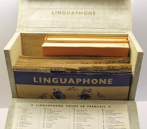 "Old ""Linguaphone"" language course"