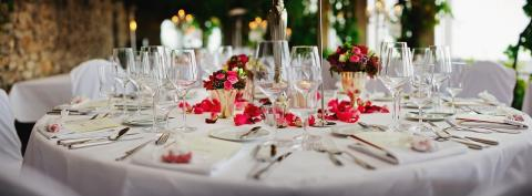 formal dinner party table setting