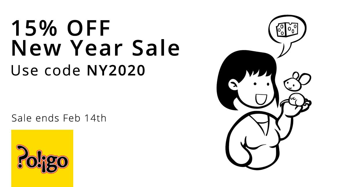 15% off New Year sale use code NY2020