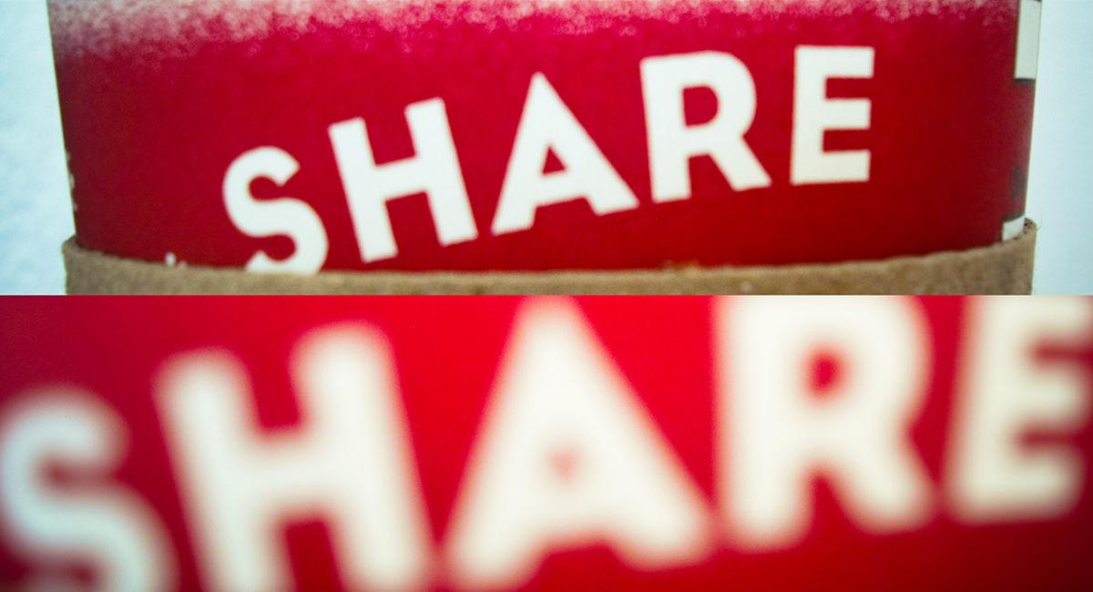 "An image that says ""share"""