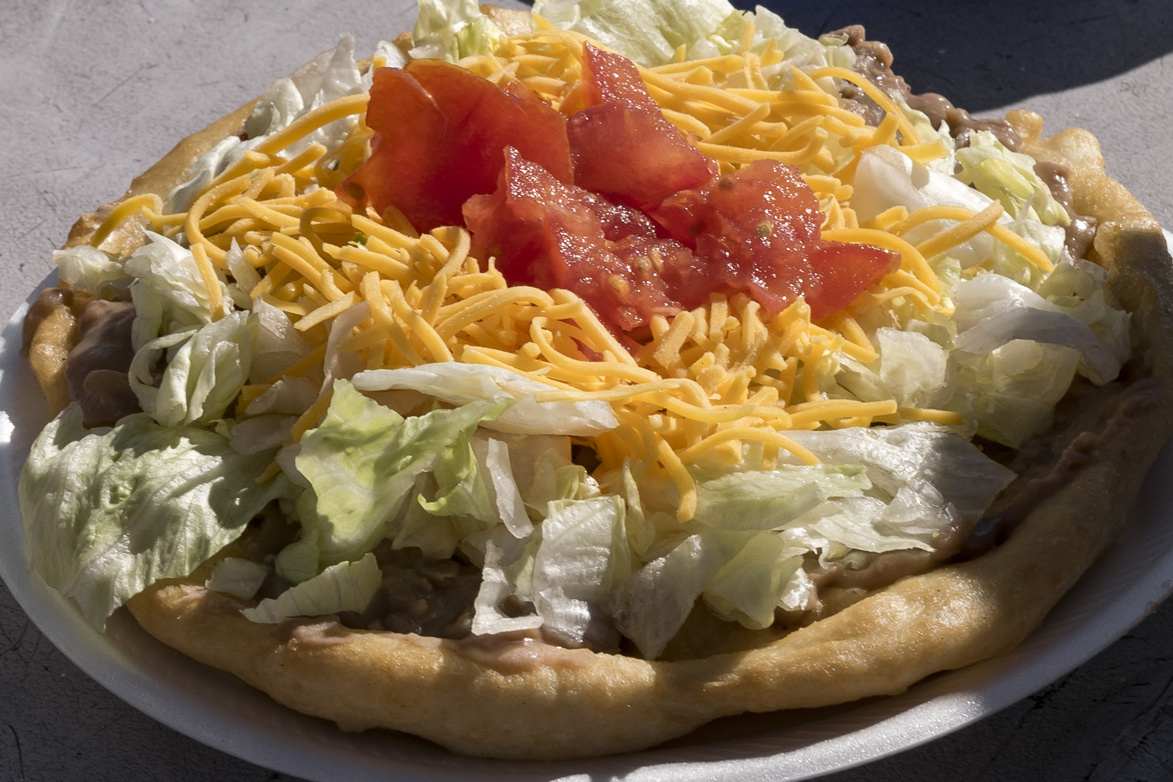 Native American fry bread with toppings