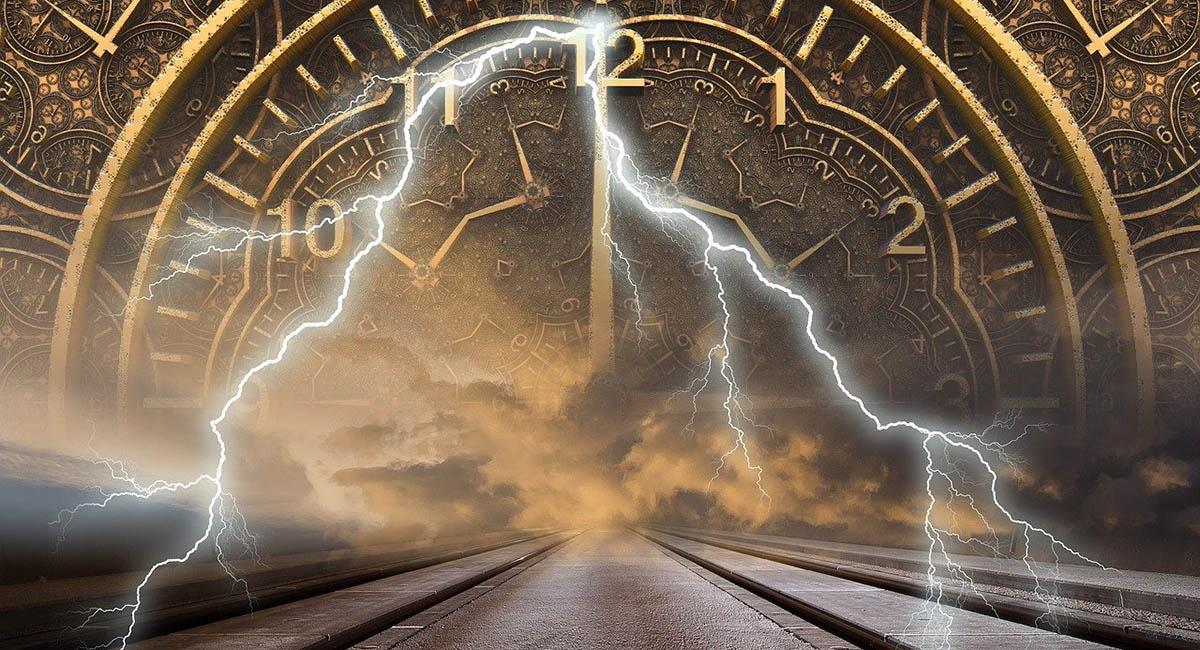 Fantasy representation of time portal