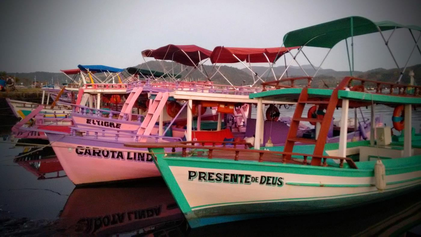 The colourful boats of Paraty