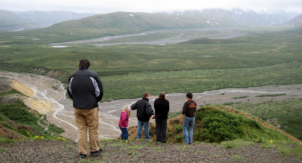 Family at Denali National Park